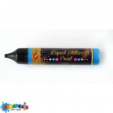 """ЗD-гель """"Liquid glitter gel"""", синій"""